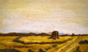 view-paint-rome-landscape-campagna-romana/five-towers-area-appia-antica-italian-art-roman-campagna-paint-alessandro-nesci