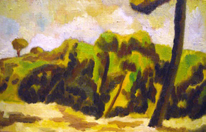 view-paint-rome-landscape-campagna-romana/monte-antemnae-north-rome-trees-italian-art-roman-campagna-paint-alessandro-nesci